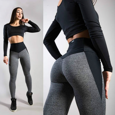 Women Yoga Fitness Leggings Gym Stretch Sports High Waist Pants Trousers