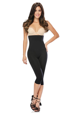 DOUBLE LAYER HIGH-WAISTED CAPRI