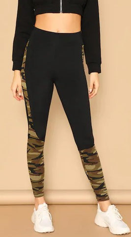 Wide Waist Camo Print Leggings