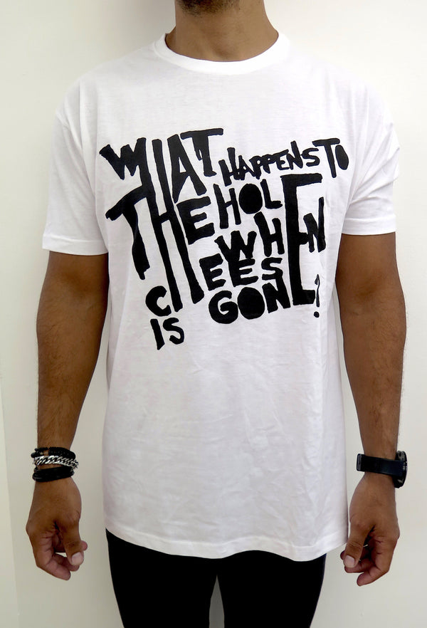 what happens to the hole when cheese is gone? (camiseta)