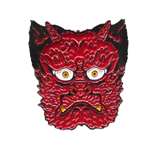 pin demonio rojo