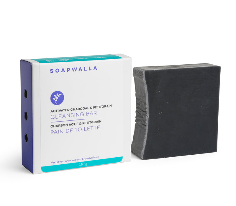 Activated Charcoal & Petitgrain Cleansing Bar