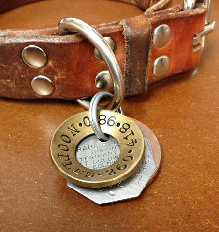 Custom Hand Stamped Dog Tags