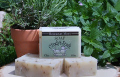 100% natural handmade rosemary mint soap