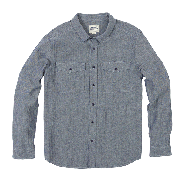 Elwell Herringbone Chambray Shirt