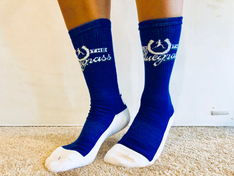 Fun & Comfy RunTheBluegrass Crew Socks!