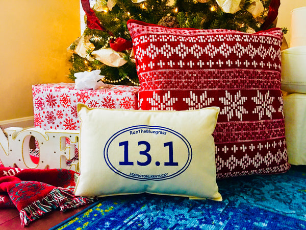 "Custom-Embroidered ""13.1"" Pillow (18"" x 12"" lumbar)"