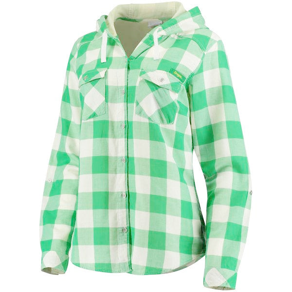 "Columbia ""Times Two"" - checkered button-down with hood"