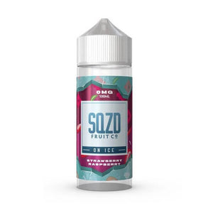 Strawberry Raspberry on Ice Shortfill 100ml Eliquid by SQZD Fruit Co