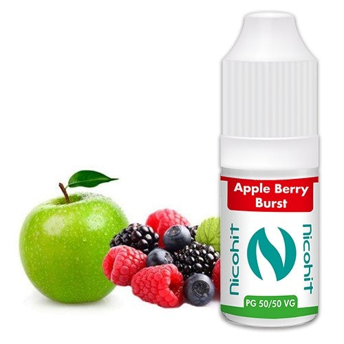 Apple Berry Burst 50/50 E-Liquid Nicohit 10 X 10ml