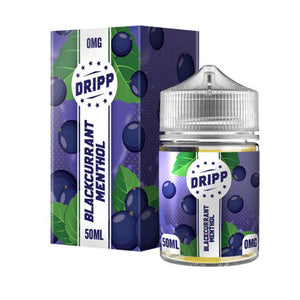 Blackcurrant Menthol 50ml Shortfill E-liquid by Dripp