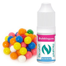 Load image into Gallery viewer, Bubblegum 50/50 E-Liquid Nicohit 10 X 10ml