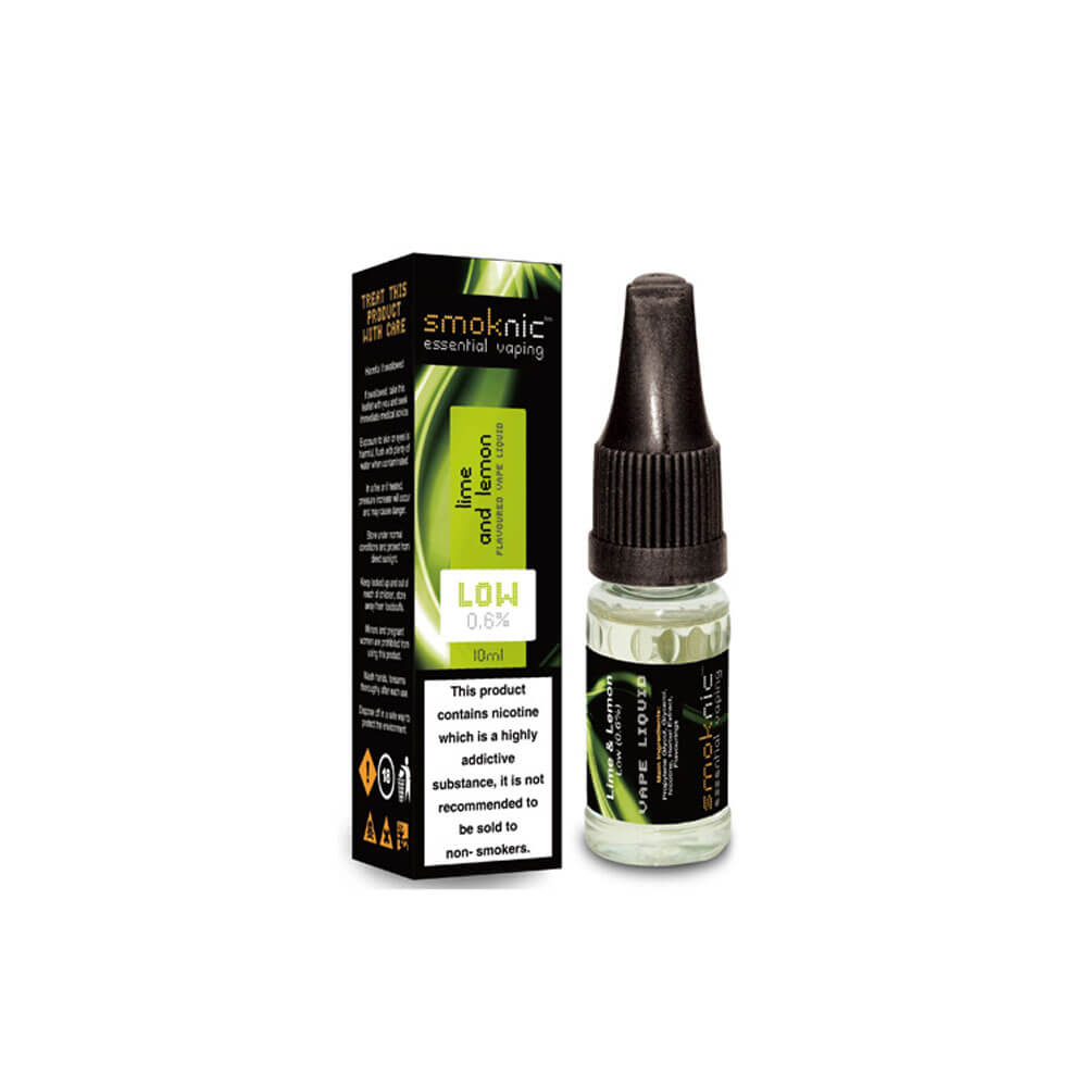 Lime & Lemon 10 X 10ml E-Liquid by Smoknic