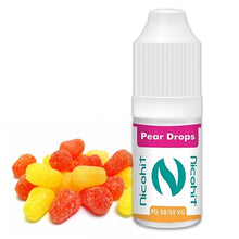 Load image into Gallery viewer, Pear Drops 50/50 E-Liquid Nicohit 10 X 10ml