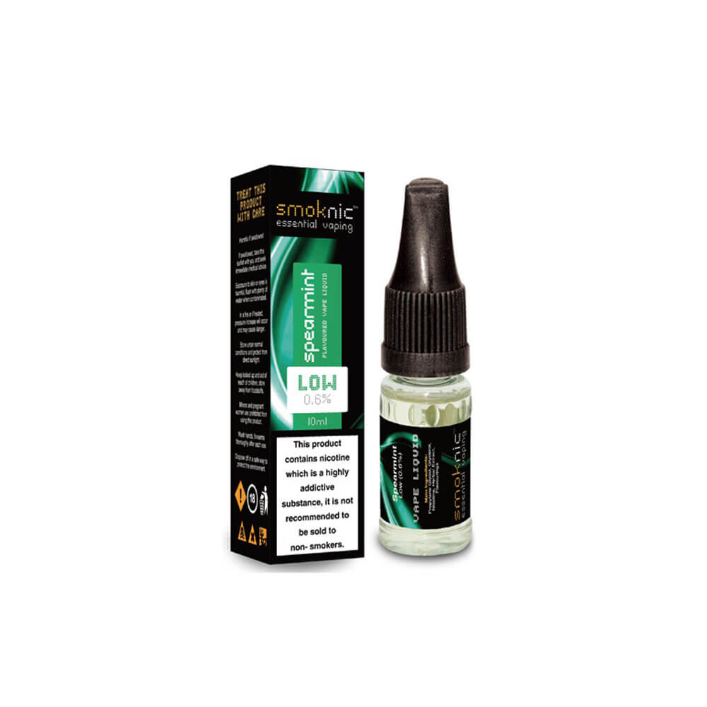 Spearmint 10 X 10ml E-Liquid by Smoknic