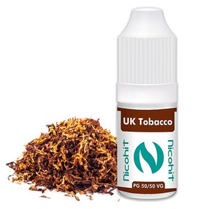 UK Tobacco 50/50 E-Liquid Nicohit 10 X 10ml