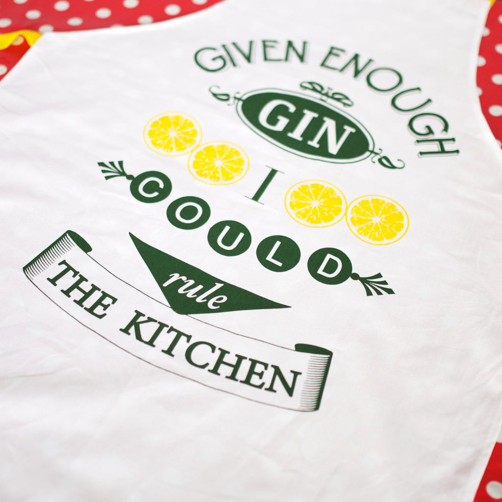 'Given Enough Gin' Apron-Aprons-Of Life & Lemons®