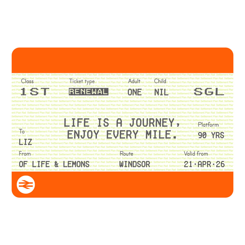 Personalised Train Ticket Birthday Print-A4 Print-Of Life & Lemons®