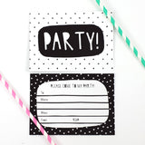 Black & White Party Invitations