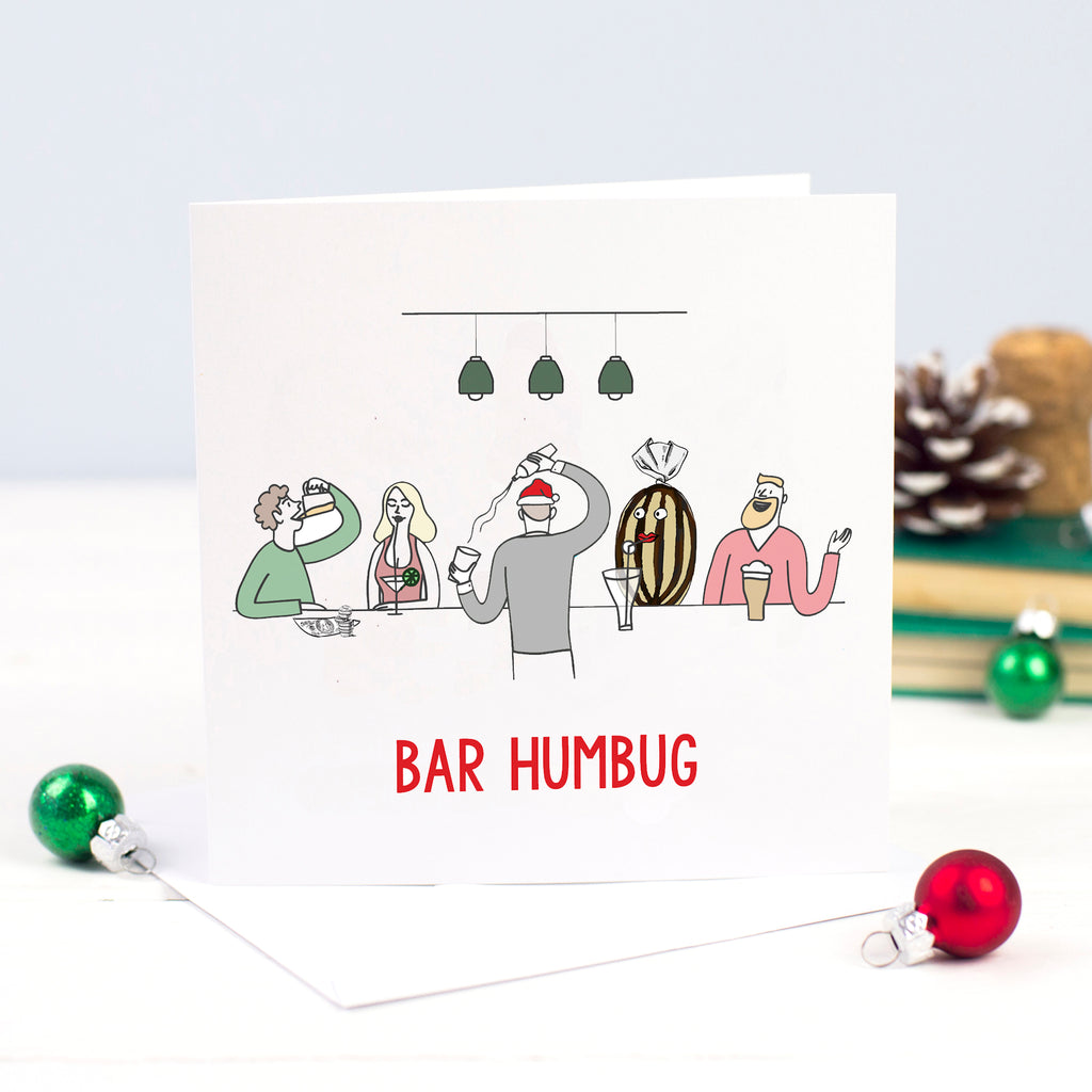 DISCONTINUED - 'Bar Humbug' Funny Christmas Card-A4 Print-Of Life & Lemons®