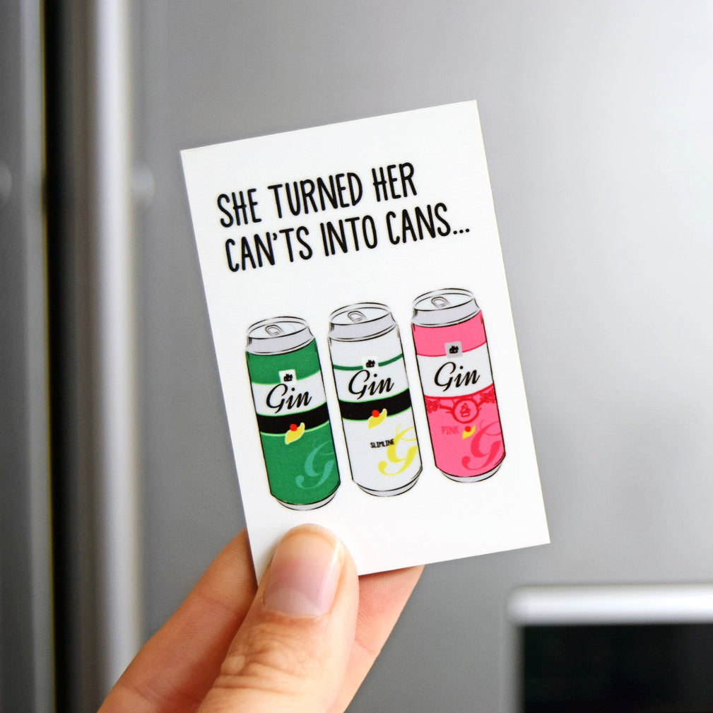 Funny Motivational Gin Fridge Magnet-Of Life & Lemons®