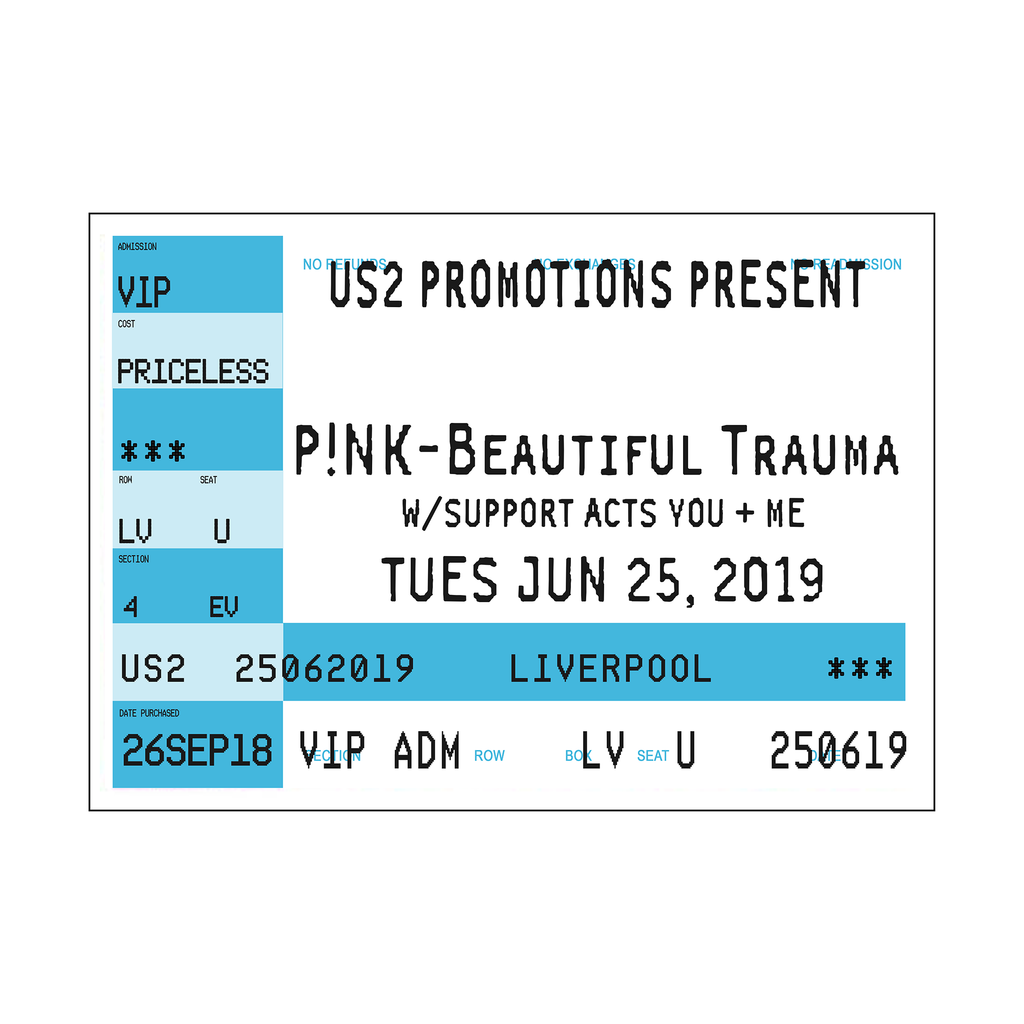 Personalised Concert Ticket Print *DIGITAL DOWNLOAD*