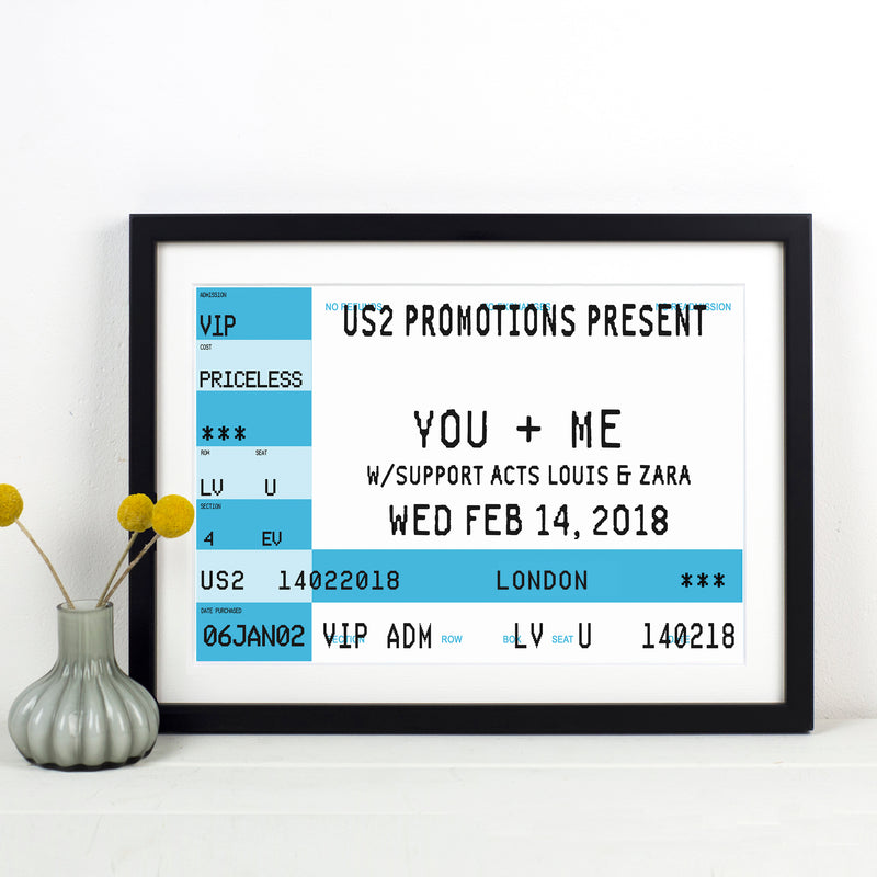 Personalised Concert Ticket Print-A4 Print-Of Life & Lemons®