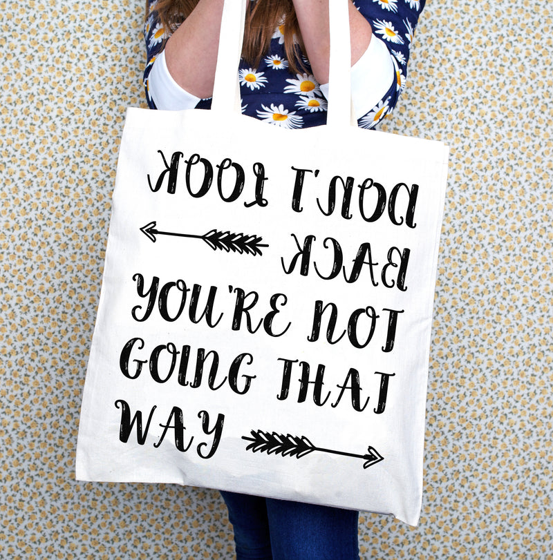 DISCONTINUED - 'Don't Look Back' Tote Bag-Tote Bag-Of Life & Lemons®