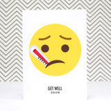 Emoji 'Get Well Soon' Card