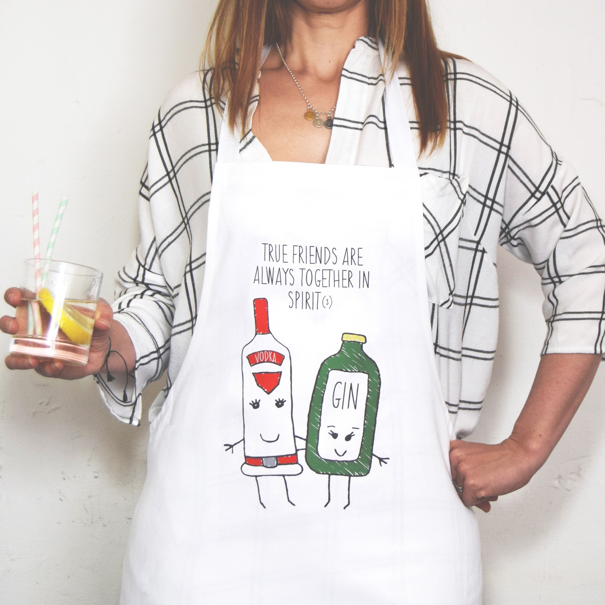 'Together in Spirits' Friendship Apron-Aprons-Of Life & Lemons®