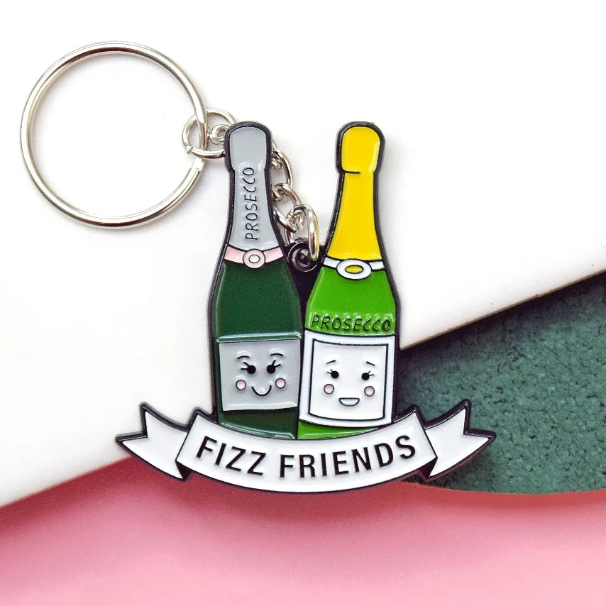 Prosecco Friendship Keyring