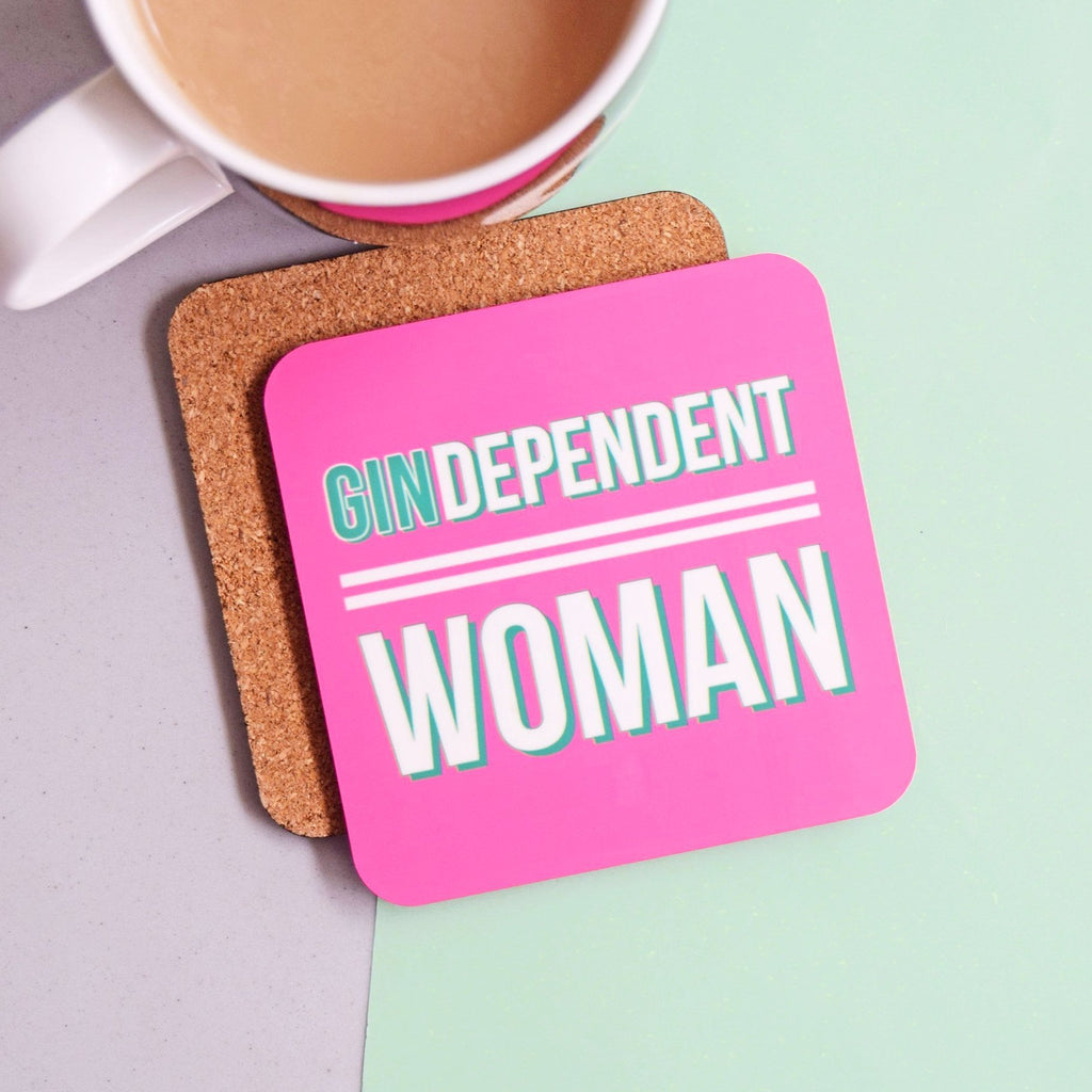 'GINdependent Woman' Funny Gin Coaster-coaster-Of Life & Lemons®