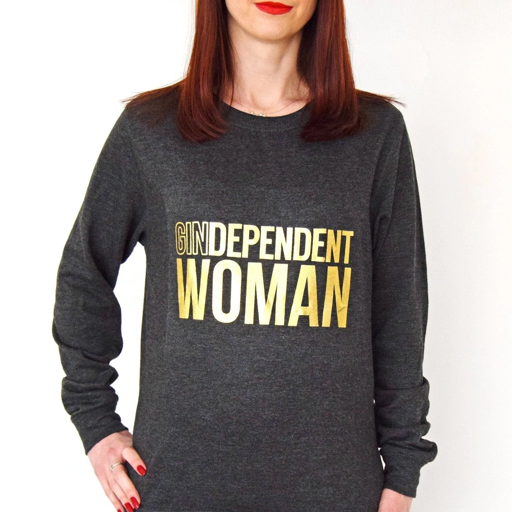 'Gindependent Woman' Women's Sweatshirt-Tote Bag-Of Life & Lemons®