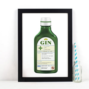 Personalised Gin Prescription Print-A4 Print-Of Life & Lemons®