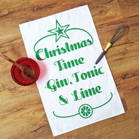 'Gin & Tonic' Christmas Tea Towel-Tea Towel-Of Life & Lemons®