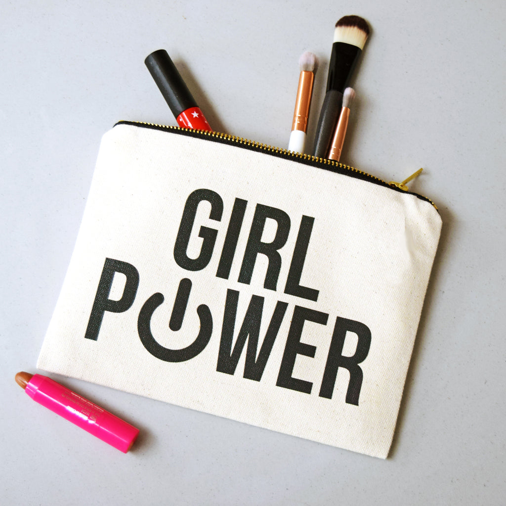 'Girl Power' Make Up Bag-Tote Bag-Of Life & Lemons®