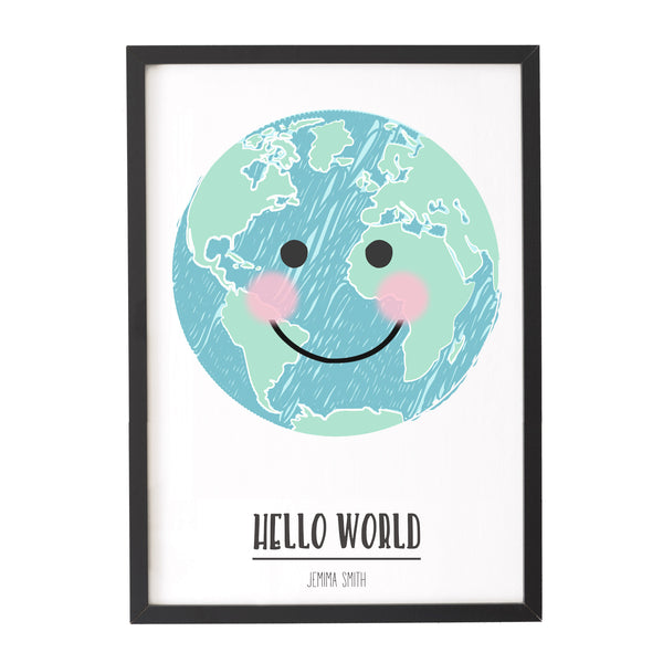 'Hello World' Personalised Print
