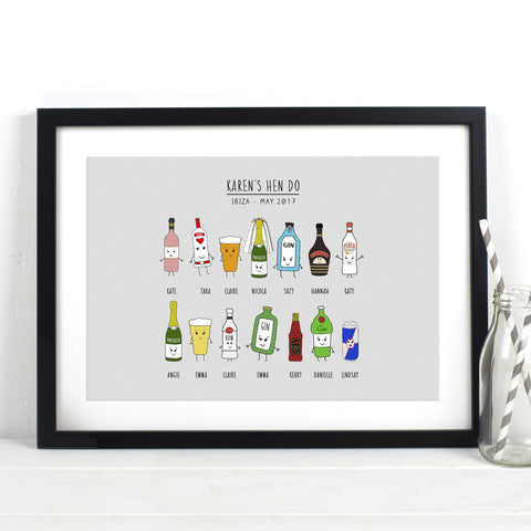 Personalised Hen Do Print