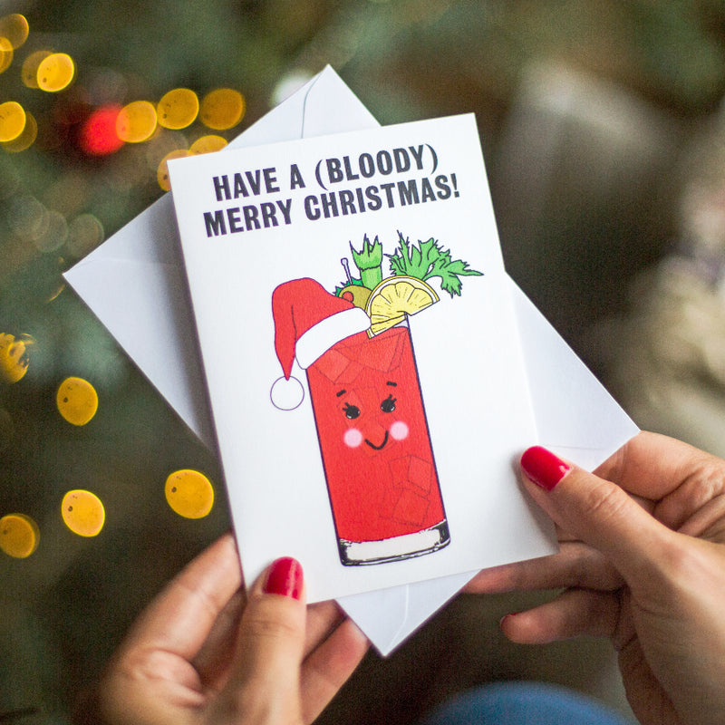 Funny Bloody Mary Christmas Card