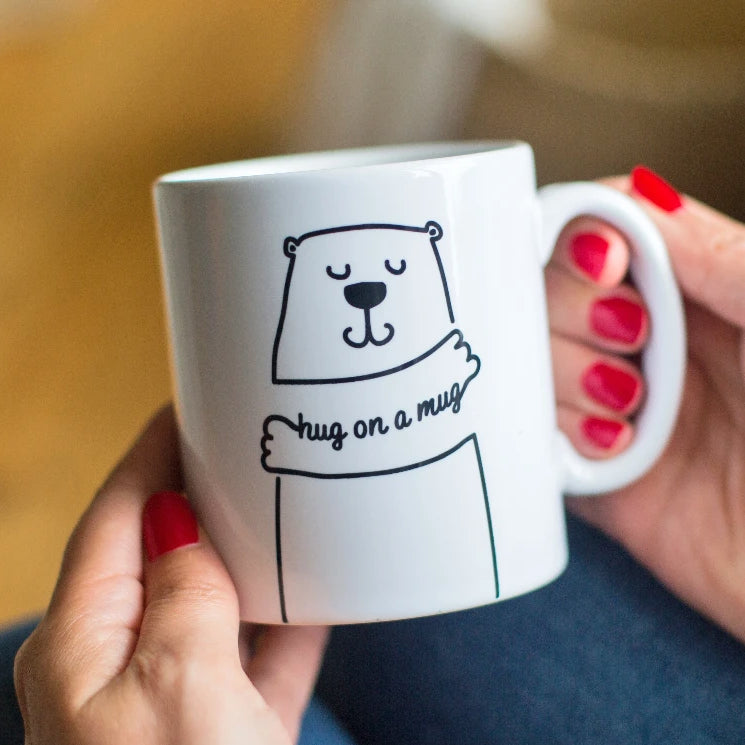 Personalised Bear 'Hug On A Mug' Gift