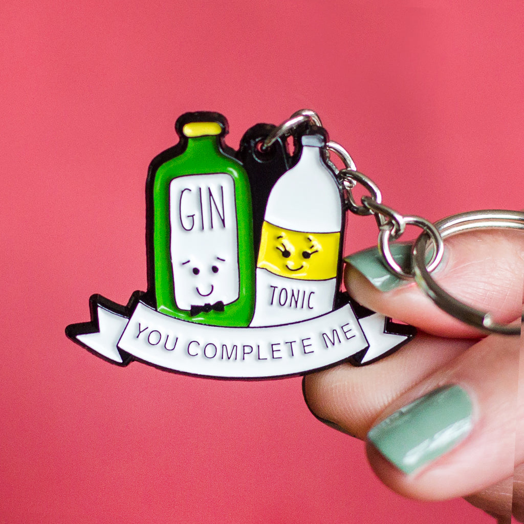 'You Complete Me' Gin and Tonic Keyring