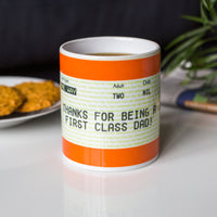 Personalised Train Ticket Mug for Dad
