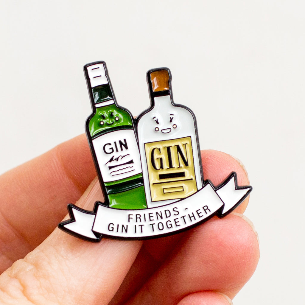 'Gin It Together' Friendship Pin Badge