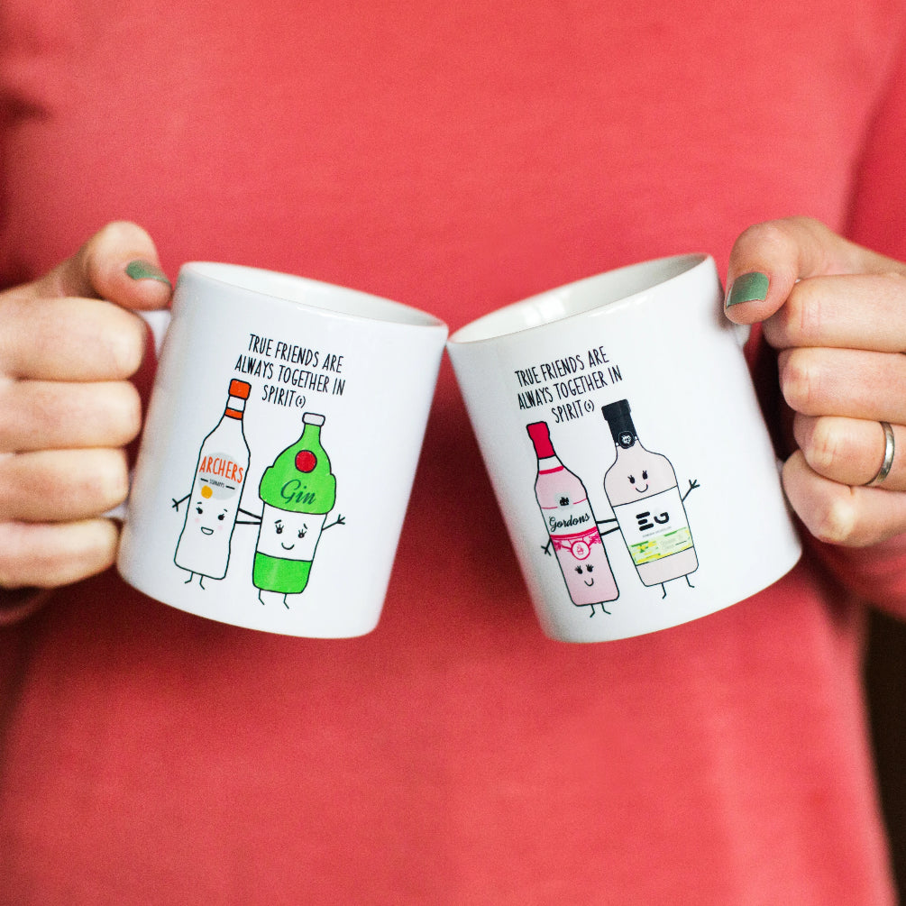 Personalised 'Together in Spirits' Friendship Mug (Choose your drinks)