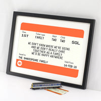Personalised Family Train Ticket Print-A4 Print-Of Life & Lemons®