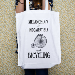 Typographic Bicycle Tote Bag-Tote Bag-Of Life & Lemons®