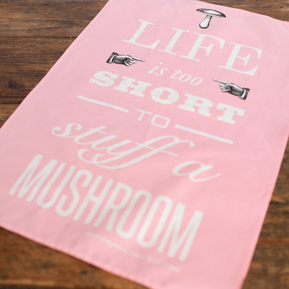 DISCONTINUED 'Life is too short..' Tea Towel - Pink-Tea Towel-Of Life & Lemons®