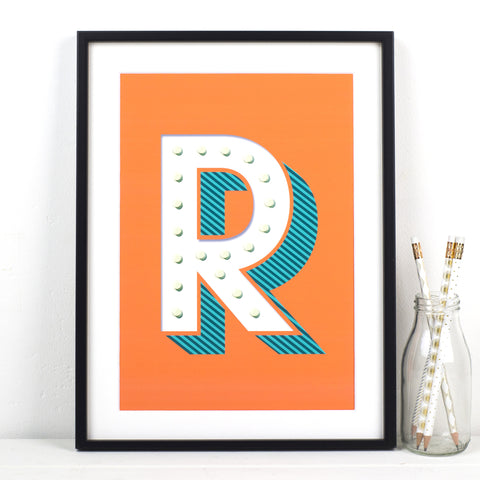 Circus Letter Print