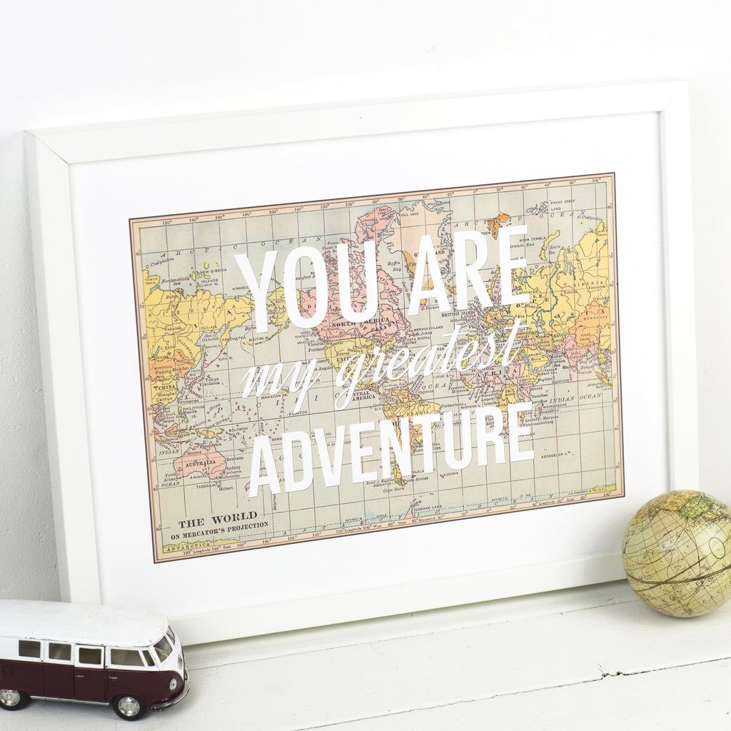 'You Are My Greatest Adventure' Print-A4 Print-Of Life & Lemons®