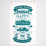 Life Rules Tea Towel